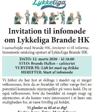 Udsat indtil videre – Invitation til Infomøde om LykkeLiga Brande HK